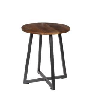Rapale table brown - h45xd38cm