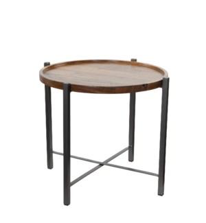 Rapale table brown - h49xd57cm