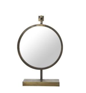 Esquire mirror gold - l32xw11xh48,5cm