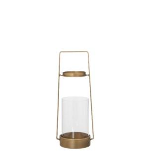 Lantern gold - h30,5xd12cm