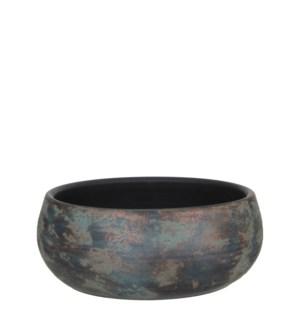 Clemente bowl round copper - h15xd37cm