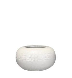 Gabriel bowl white - h13xd23cm