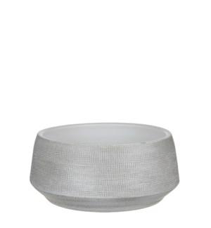 Guido bowl round off white - h14xd28cm