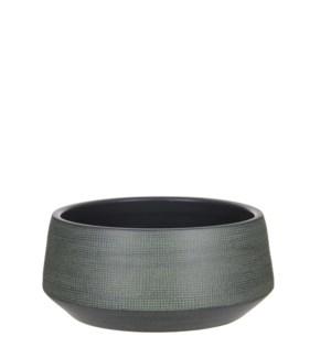 Guido bowl round d. green - h14xd28cm