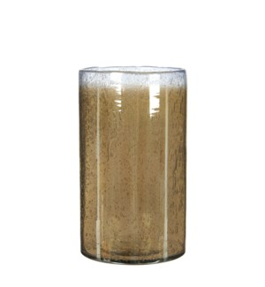 Elice vase glass taupe - h25xd15,5cm