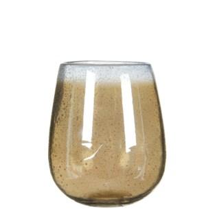 Elice vase glass taupe - h19xd16cm