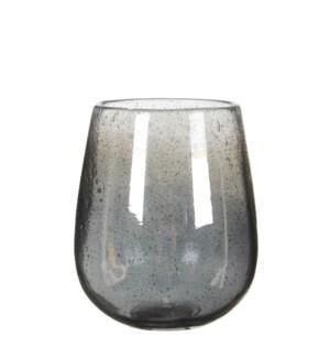 Elice vase glass d. grey - h19xd16cm