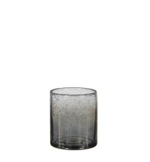 Elice vase glass d. grey - h11xd10cm