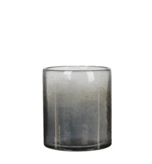 Elice vase glass d. grey - h16xd15,5cm