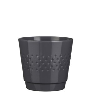 Bjorn pot round d. grey - h22xd23,5cm