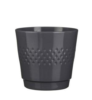 Bjorn pot round d. grey - h25,5xd27,5cm