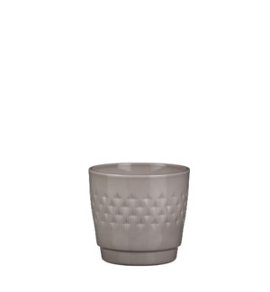 Bjorn pot round taupe - h14xd15,5cm