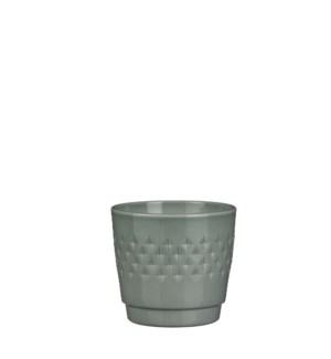 Bjorn pot round green - h14xd15,5cm