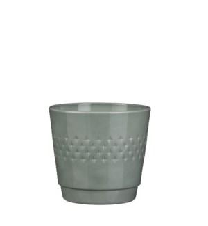 Bjorn pot round green - h18xd20cm