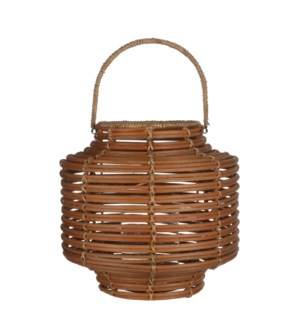 Hampton lantern l. brown - h38xd38cm