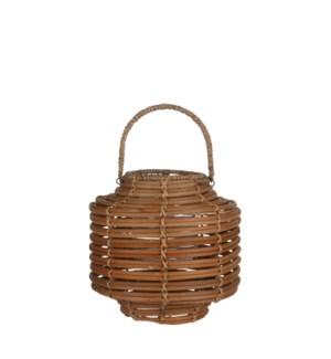 Hampton lantern l. brown - h28xd28cm
