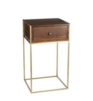 Adamo side table d. brown - l33xw30xh57cm