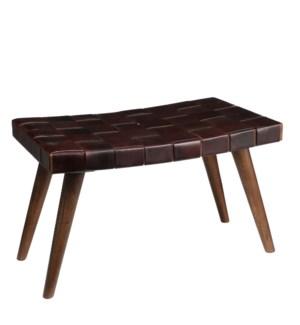 Gilberto stool d. brown - l76xw40xh43cm