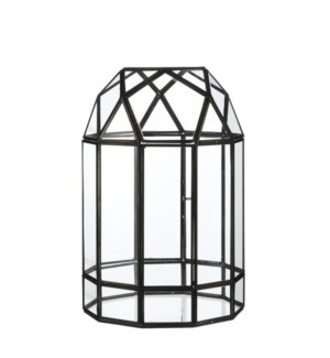 Umberto greenhouse black - h36xd24cm
