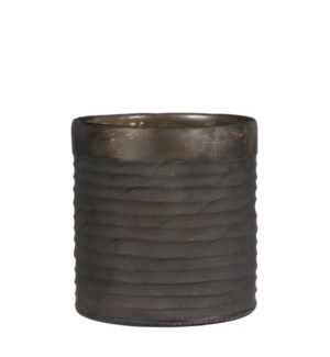 Chellie vase glass grey antique - h23xd19cm