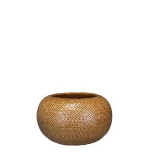 Gabriel bowl round ochre - h13xd23cm