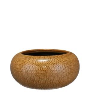 Gabriel bowl round ochre - h16xd32cm