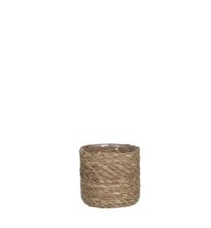 Atlantic basket l. brown - h12xd12cm