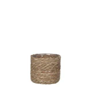 Atlantic basket l. brown - h14xd14cm