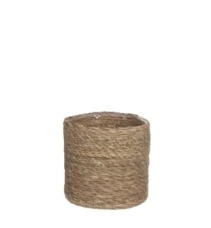 Atlantic basket l. brown - h18xd18cm