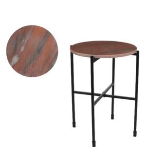 Nanne side table pink - h50xd40cm