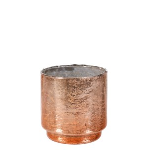 Tealight holder copper - h12xd12cm