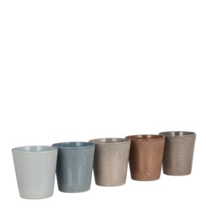 Dune orchid pot round 5 assorted pdq - h14xd13cm