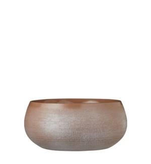 Douro bowl round taupe - h12xd26cm