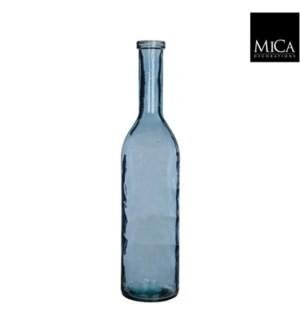"Rioja Glass Vase 7x29.5""  Blue"