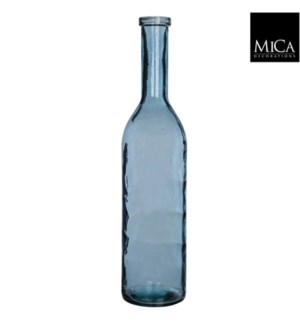 "Rioja Glass Vase 8.25x39.25""  Blue"
