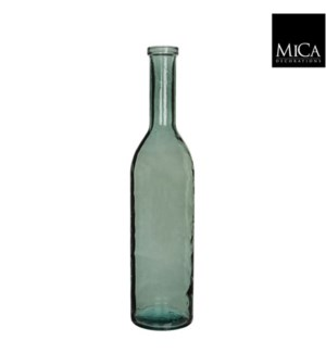 "Rioja Glass Vase 7x29.5""  Green"