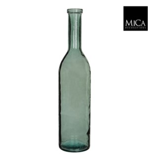 "Rioja Glass Vase 8.25x39.25"" Green"