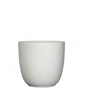 """Tusca Pot 11x9.75"""" White Matte"""