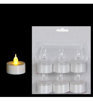 "Tealight B/O 1.5x1.5"" White"