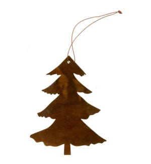 "Tree Ornament with Hanger 6"" Dark Brown"