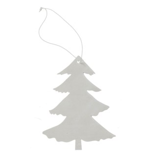 "Tree Ornament with Hanger 6"" White"