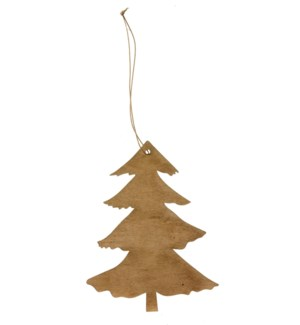 "Tree Ornament with Hanger 6"" Natural"