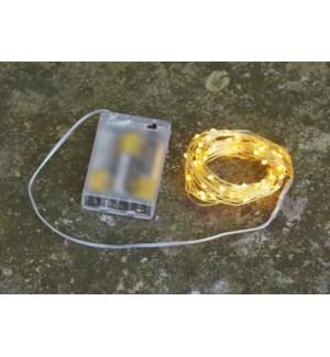 """Indoor LED Bundle B/O 31.5"""" 64L Gold"""