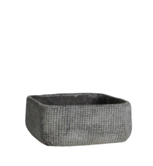 Kyan bowl square d. grey - h9xd22cm
