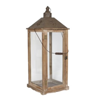 "Nottingham Lantern 11x11x29.5"" Brown"