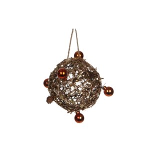 "Ornament Ball 4"" Copper"