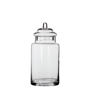 Zita storagepot transparent - h28xd13cm