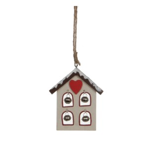 "Ornament House 3x3.5x0.5"" White"