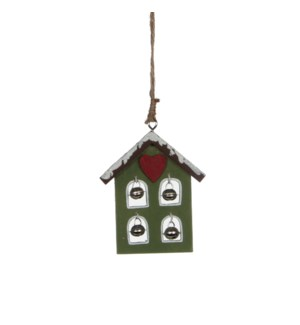 "Ornament House 3x3.5x0.5"" Green"