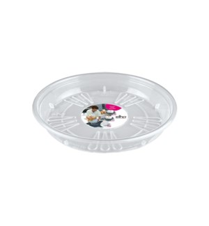 uni-saucer round 14cm transparent